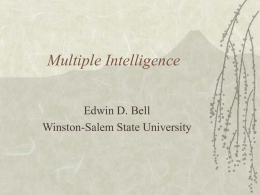 Multiple Intelligence - Winston