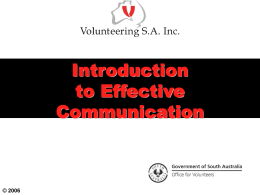 INTRODUCTION TO EFFECTIVE COMMUNICATION