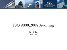 ISO 9000:2008 Auditing