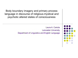 Body boundary and primary process language in …