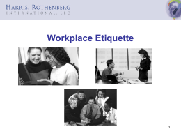 Workplace Etiquette Slides. ppt