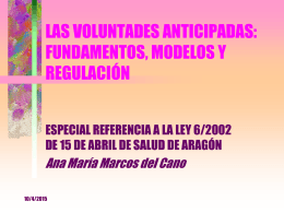 LAS VOLUNTADES ANTICIPADAS: FUNDAMENTOS, …