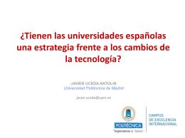 Gobernanza TI de la Universidad