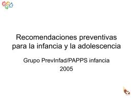 Recomendaciones Preventivas 2005