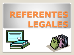 REFERENTES LEGALES - IHMC CmapServer 5.04