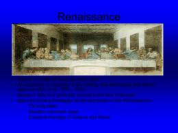 Renaissance - OnMyCalendar