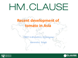 SA&SEA vs Rest Asia - Tomato Genetics Cooperative