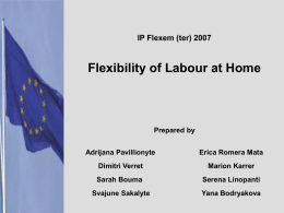 Flexibility of Labour at Home