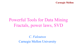 Next generation data mining tools