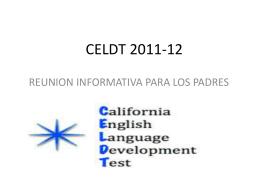 CELDT 2011-12 - Pacoima Charter School
