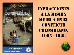 INFRACCIONES A LA MISION MEDICA Colombia, 1995