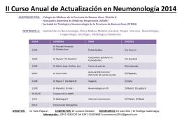 Curso de actualizacion en neumonologia.