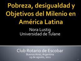 Diapositiva 1 - Nora Lustig CV Nora Lustig