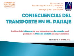 EL TRANSPORT A LA COMUNITAT VALENCIANA