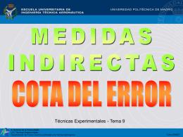 ERRORES EN LAS MEDIDAS INDIRECTAS