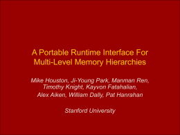 A Portable Runtime Interface For Multi