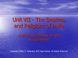 The Empires, and Religions of India