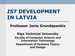 IST DEVELOPMENT IN LATVIA - eLogmar