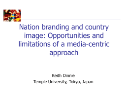 Chapter 2: Nation-brand identity, image and positioning
