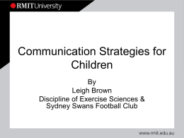 Communication Strategies for Children