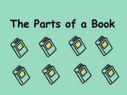 Parts of A Book - BookDivas