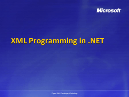 XML Programming in .NET