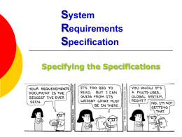System Requirements Specification