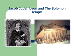 Jacob Judah Leon and The Solomon Temple