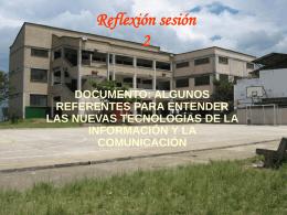 Reflexion sesion 2 problematicas