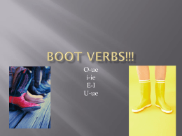 BOOT VERBS!!!