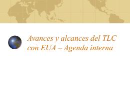 Avances y alcances del TLC con EUA – Agenda interna