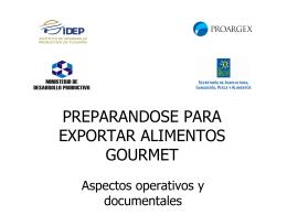 SECUENCIA DE UNA EXPORTACION