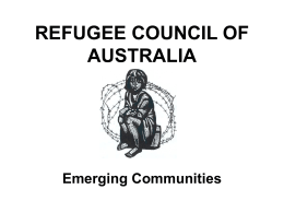 REFUGEE COUNCIL OF AUSTRALIA