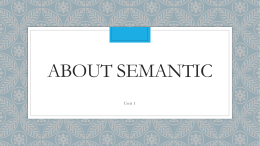 About semantic