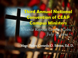 Third Annual National Convention of CEAP Campus …