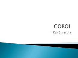 COBOL - grothoff.org