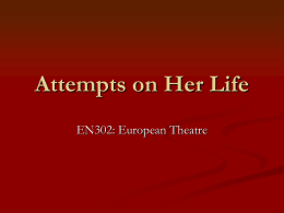 Attempts on Her Life - University of Warwick