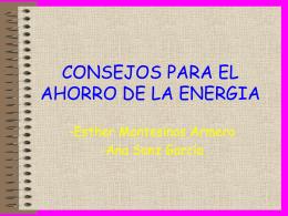 CONSEJOS PARA EL AHORRO DE LA ENERGIA