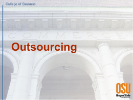 Outsourcing - Oregon State University