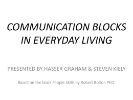 COMMUNICATION BLOCKS - hypnosis psychologist …