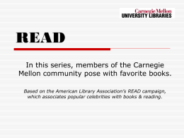 READ - Carnegie Mellon University