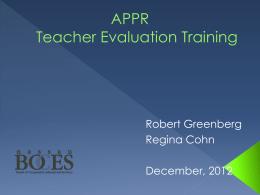 i3 Innovation Fund Consortium Teacher Observation Pilot