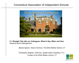 Connecticut Association of Independent Schools