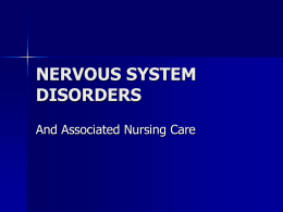 NERVOUS SYSTEM DISORDERS