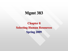 Mgmt 383 - University of Mississippi