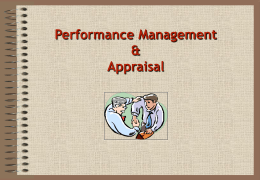 Performance Management Session 30th March, 2000 Alma