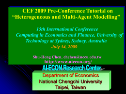 Motivation for Interacting Heterogeneous Agents