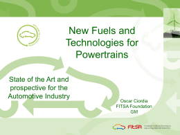 New Fuels and Technologies for Powertrains