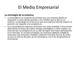 El Medio Empresarial