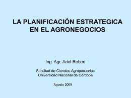 Diapositiva 1 - Facultad de Ciencias Agropecuarias | UNC